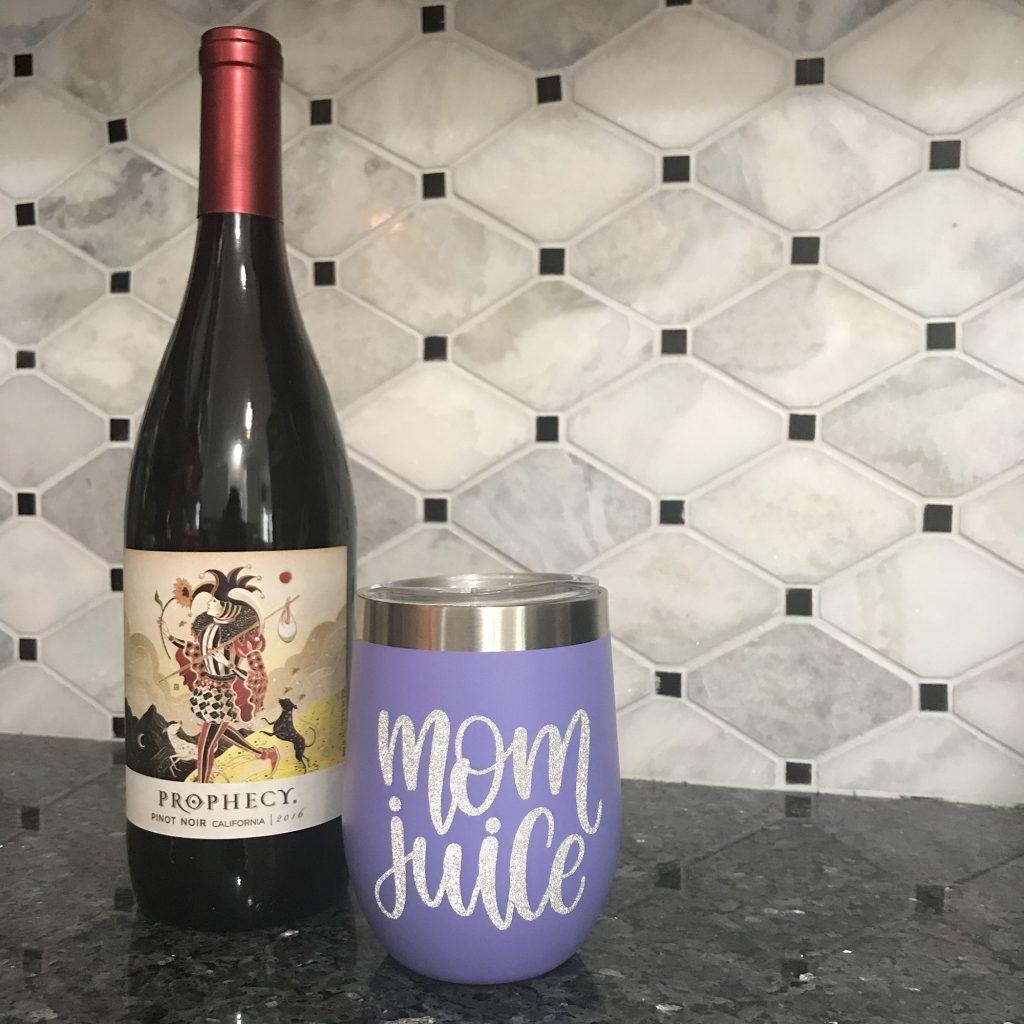 mom juice wine tumbler