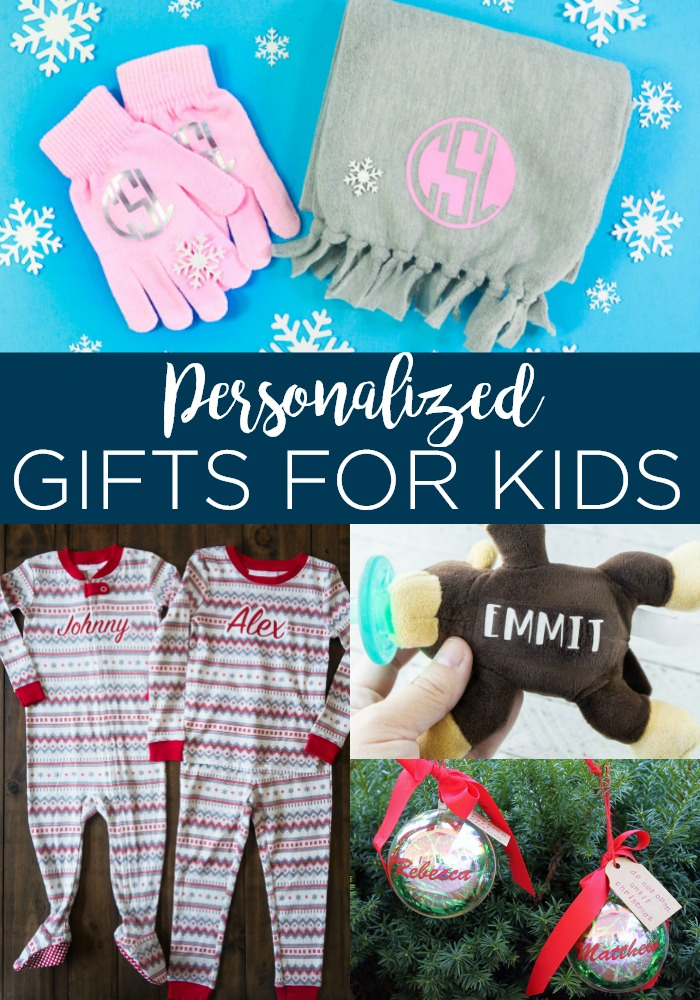 Make these personalized gifts for kids with your Cricut machine this holiday season! You can give handmade easily when you use a Cricut! #cricut #cricutcreated #kids #personalized #giftideas #giftsforkids #kidsgifts #monogram #cricutgifts #cricutideas #cricutcrafts