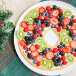 Sugar Cookie Fruit Pizza in a Wreath Shape