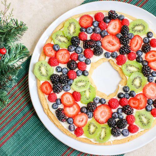 fruit pizza wreath
