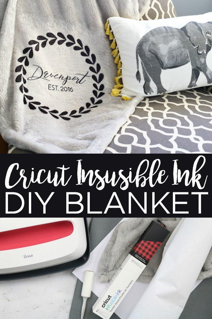 Learn how to make an Infusible Ink blanket with your Cricut machine. Pick any 100% polyester blanket to customize for an amazing gift idea! #cricut #cricutcreated #infusibleink #blanket #custom #customize #weddinggift #giftidea #personalize #personalized #homedecor