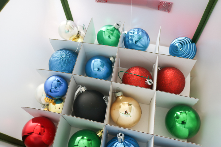 carton for storing christmas ornaments