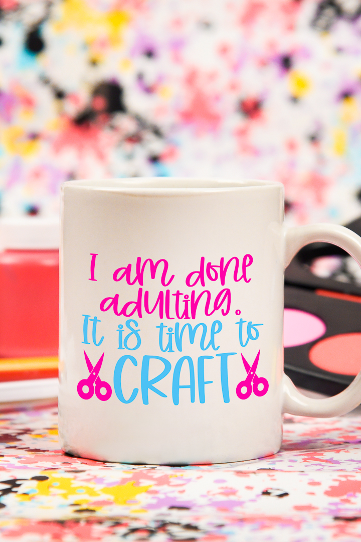 "Download this ""it's time to craft"" SVG file here and show off your love of crafting!"
