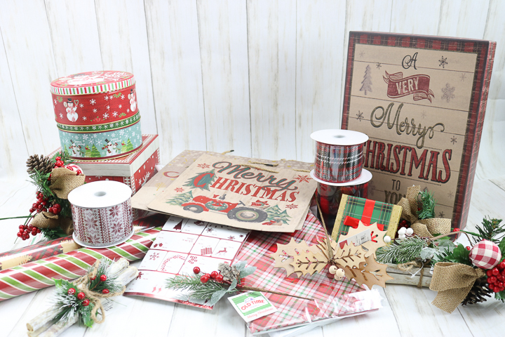 supplies for christmas gift wrap