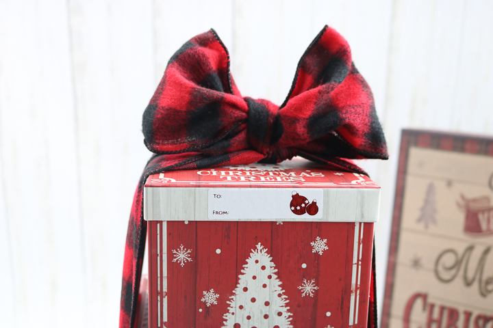 bow on stacked gift boxes