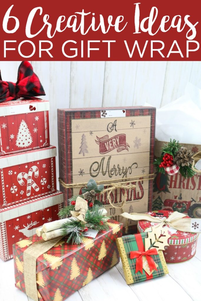 These six creative gift wrapping ideas are perfect for the holidays! Wrap up your Christmas presents with one of these gift wrap ideas for the holidays! #giftwrap #giftwrapping #oldtimepottery #otpfinds #giftboxes #giftbags #christmas #holidays #christmasgifts #christmaswrap #wrapping #giftideas