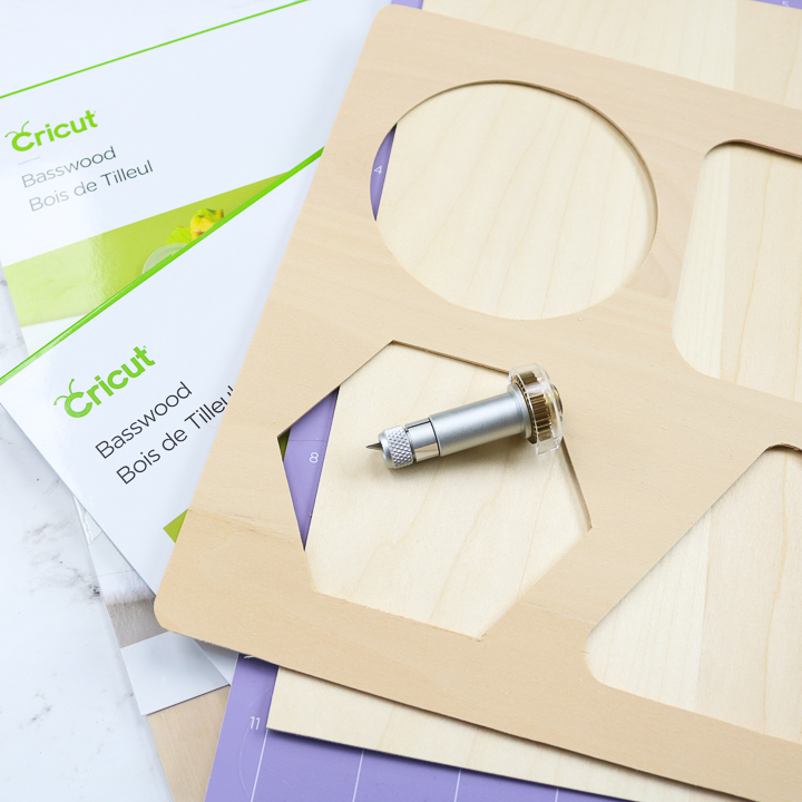 how to cut wood on cricut maker with knife blade