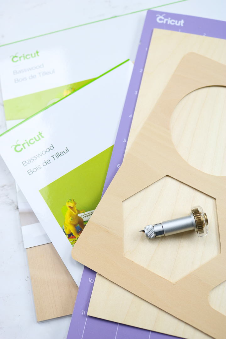 video tutorial on cutting wood with cricut