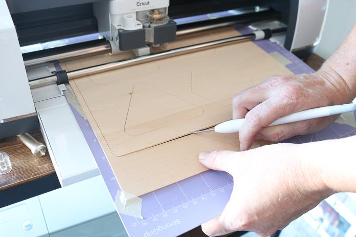 how to cut wood on cricut maker