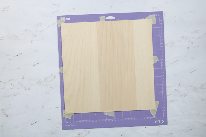 how to add wood to a cricut mat