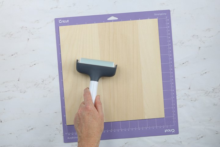 brayer for cricut wood cutting