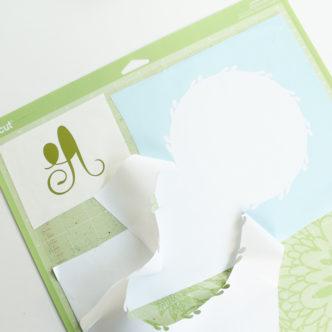 cutting vinyl scraps on a cricut