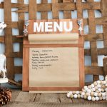 DIY Menu Board with Farmhouse Style