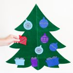 Felt Christmas Tree for Toddlers with a Cricut