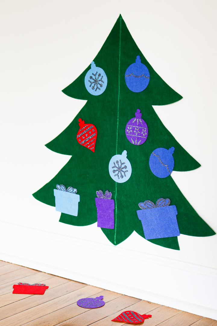 Felt Christmas Tree For Toddlers With A Cricut The Country Chic Cottage