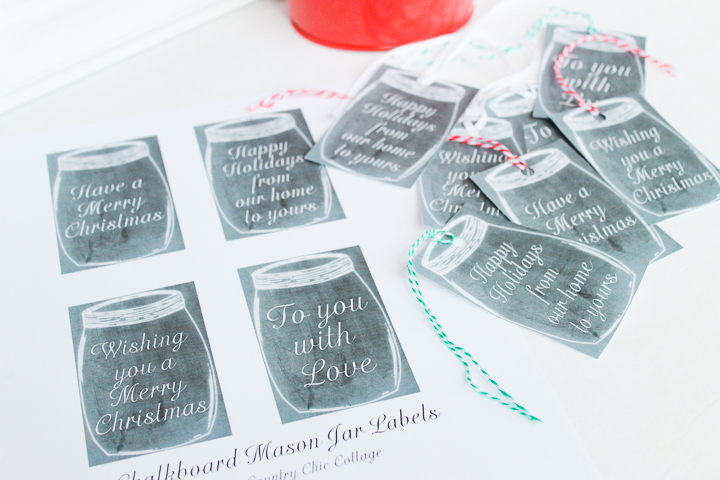 mason jar christmas tags