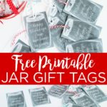 Download these free printable tags for Christmas and add them to all of your gifts! These mason jar gift tags are perfect for the holidays and wrapping up your gifts on a budget! #gifttags #masonjars #printable #freeprintable #holidays #christmas #christmastags #giftwrapping #giftwrap #giftidea #chalkboard