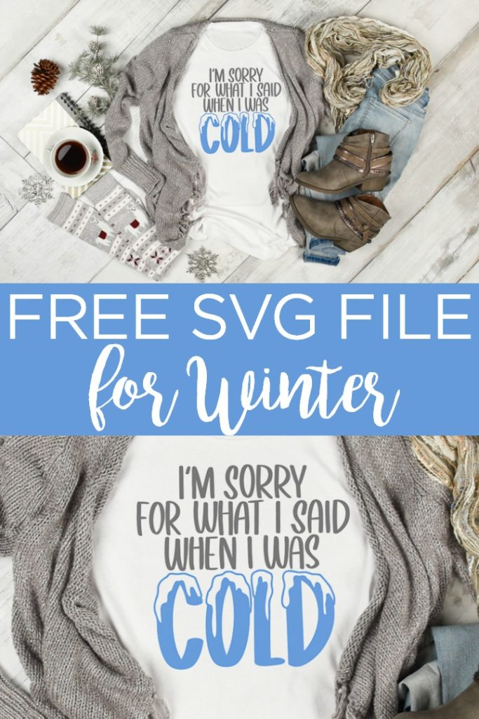 Grab this free winter SVG and use it to make some shirts this season! Perfect for use on your Cricut machine to cut heat transfer vinyl and more! #svg #freesvg #cricut #cricutcreated #winter #cutfiles #freecutfiles #cold #heattransfervinyl #htv #shirt #diyshirt