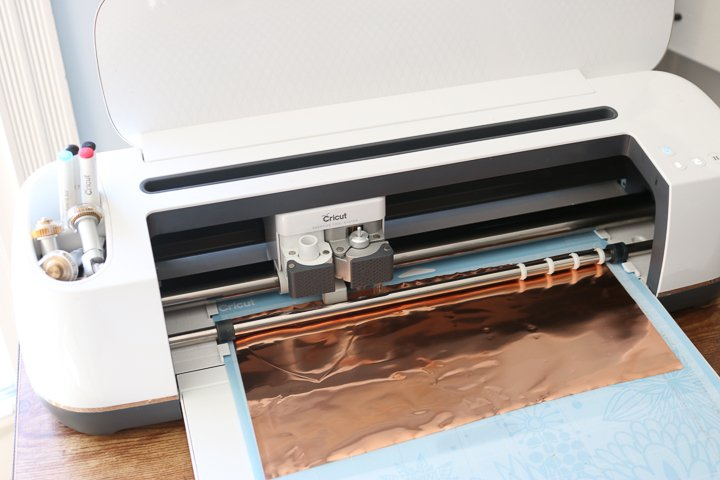 cricut cutting copper sheets