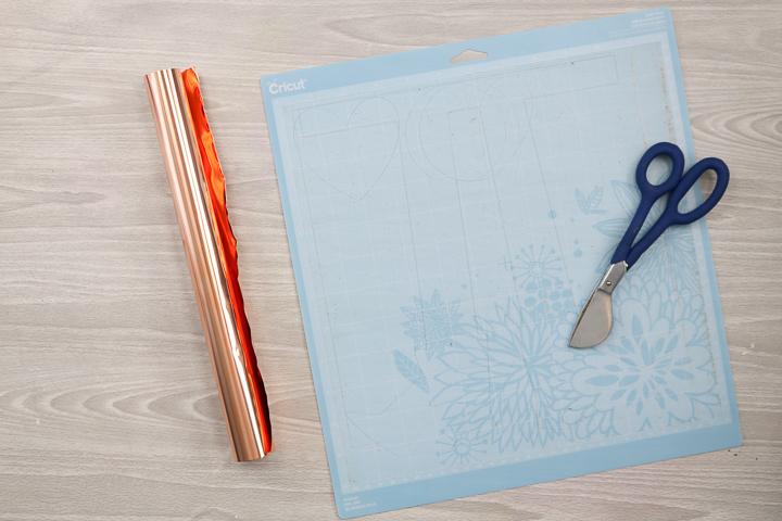 adding metal to a cricut mat