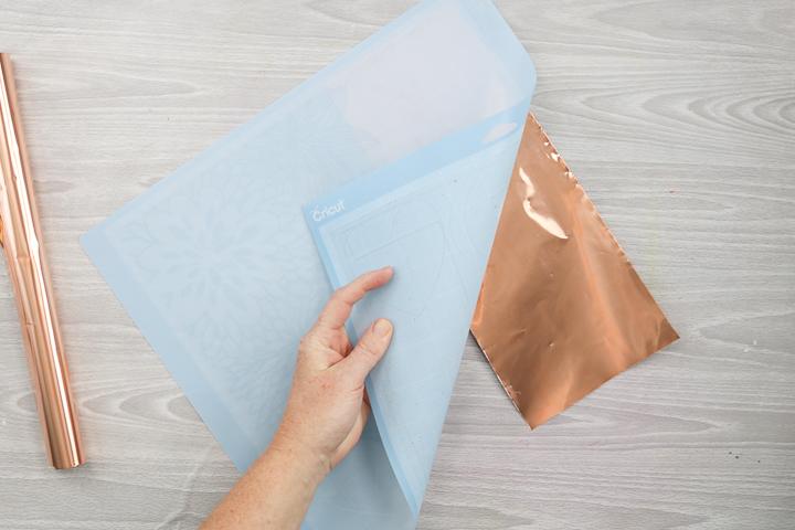 removing metal from a cricut mat