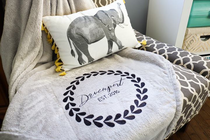 how to make an infusible ink blanket