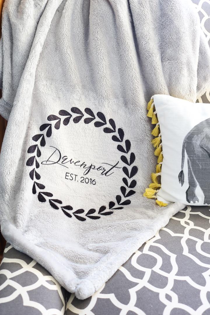 custom blanket gift idea