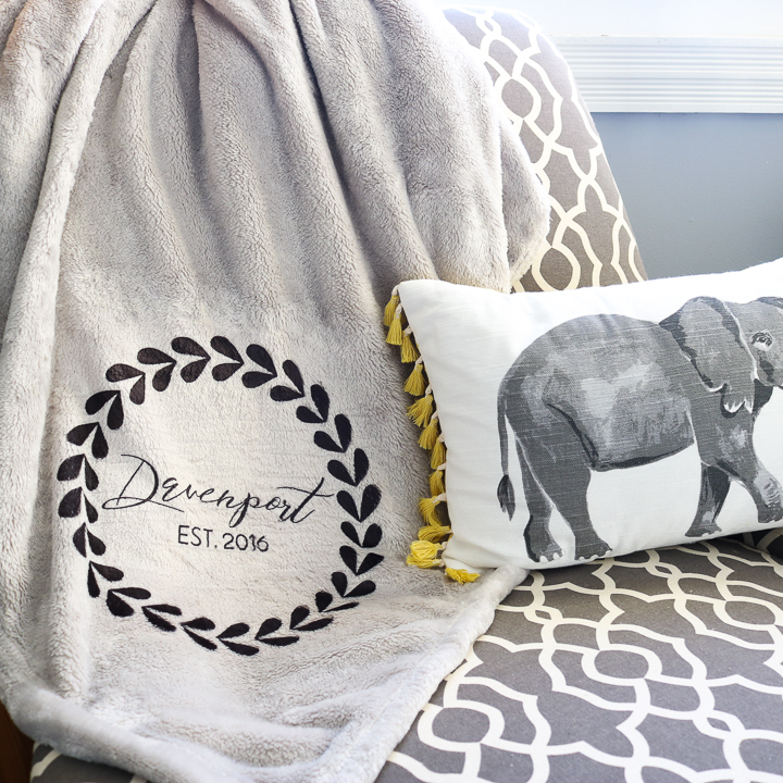 making a blanket with a cricut