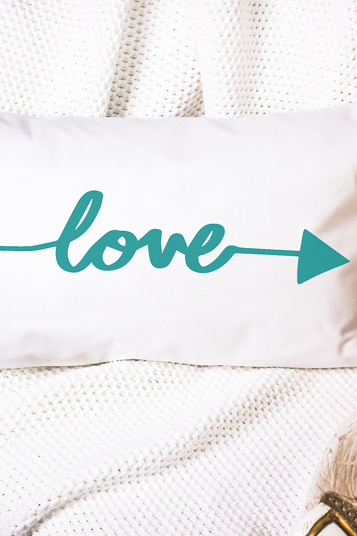 love arrow pillow