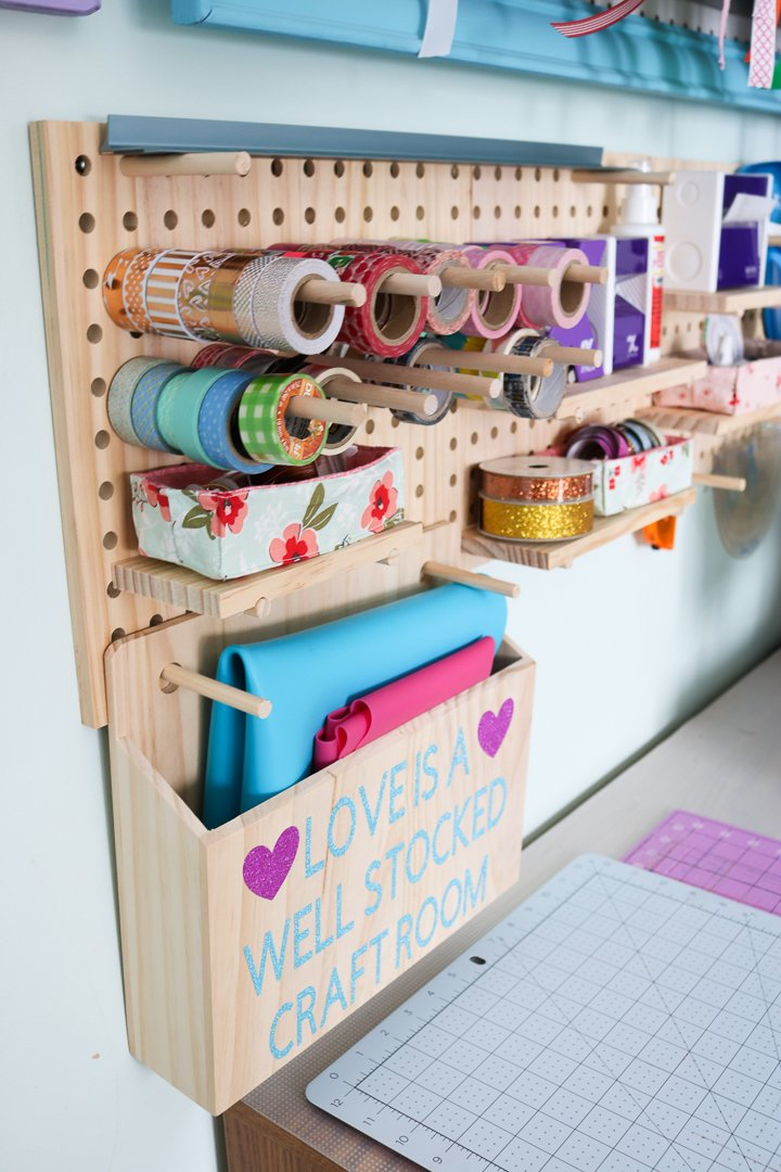 organizing with a pegboard