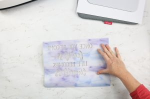 Process of using Cricut DIY mouse pad