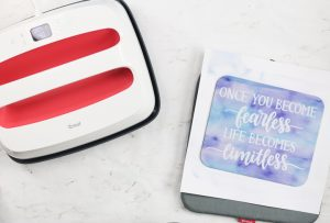 Easy Press with Cricut transfer paper for DIY mouse pad