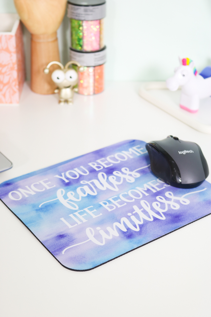 make an infusible ink mouse pad