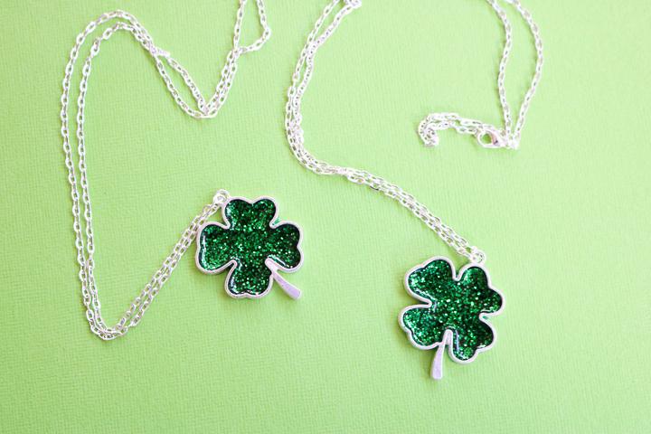 diy st patricks day necklace