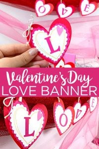 Easy Valentine's Day Banner with Your Cricut