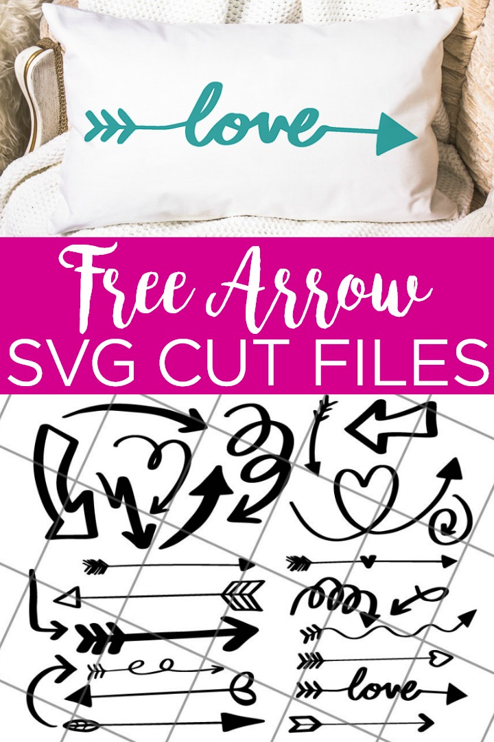 Need a free arrow SVG? Give these 25 free arrow SVGs a try! Cute arrow cut files for your Cricut machine! #cricut #cricutcreated #arrow #svg #svgs #svgfiles #cutfiles #freesvg #freesvgs #pillow #love #handmade