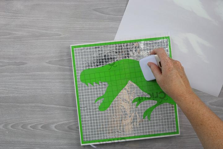 adding mosaic vinyl to wood