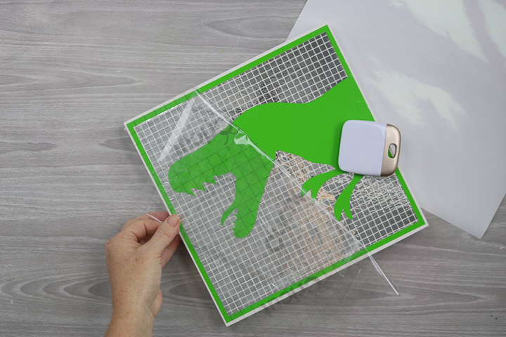 using transfer tape on mosaic vinyl