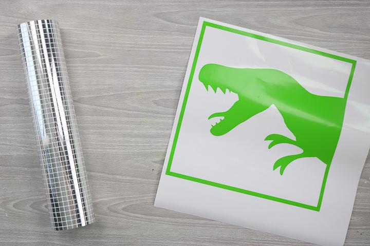 vinyl dinosaur art