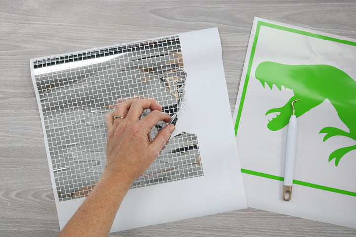how to weed cricut mosaic vinyl