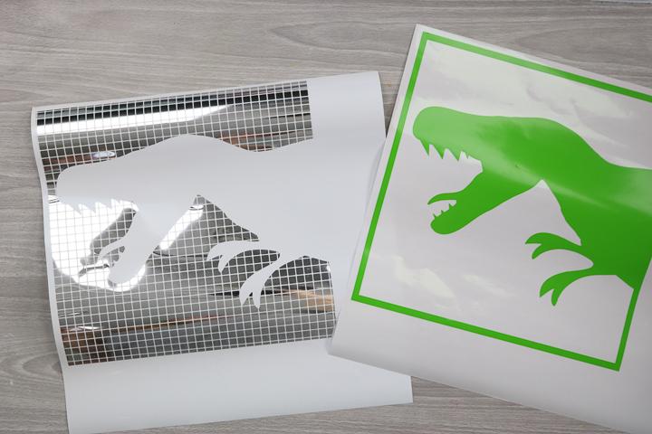 weeded vinyl dinosaur