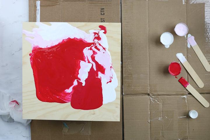 marbling paint technique