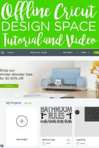 Have you used the new Cricut Design Space for desktop? Learn how to use offline Design Space with this easy to follow tutorial and video! #cricut #cricutcreated #cricutdesignspace #designspace #cricuttutorials #cricuthowto #cricutprojects #cricutvideo #cricutmade #cricuteverywhere #cricutlove