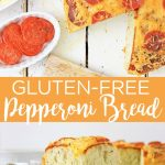 Make this gluten-free version of pepperoni bread! You will be amazed at how delicious this bread is and the fact that it is gluten-free! Live well and eat well! #bread #glutenfree #yum #recipe #cheese #pepperoni