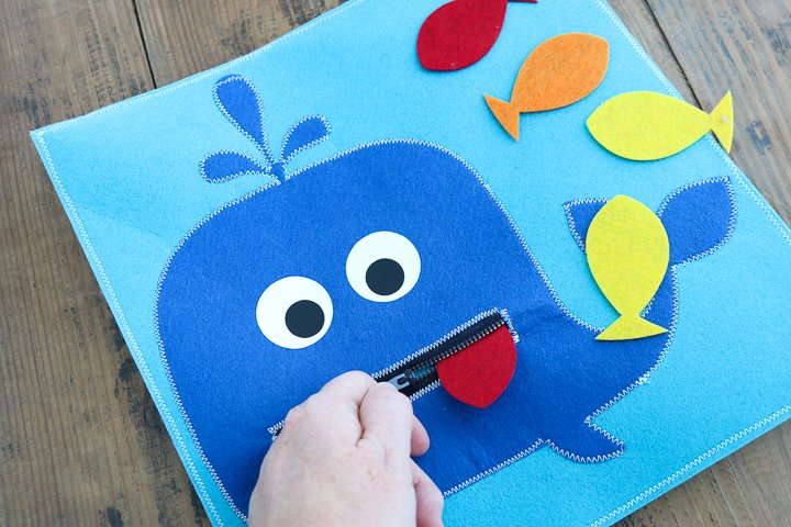 quiet book page for toddlers
