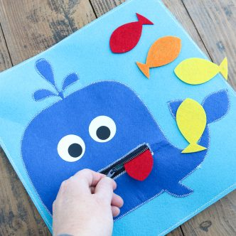 whale and fish quiet activity for toddlers