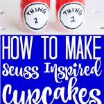 These Dr. Seuss birthday treats will be the hit of any party! Whip up these push-pop cupcakes that look like thing 1 and thing 2 for a party or just to celebrate the birthday of Dr. Seuss! #drseuss #seuss #seussbirthday #thing1 #thing2 #pushpops #cupcakes #recipe #yum