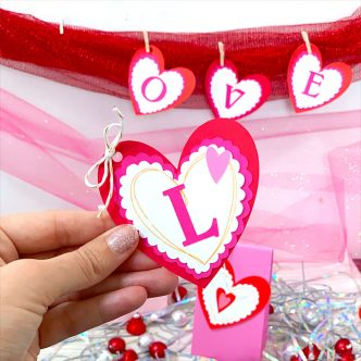 heart banner for valentine's day