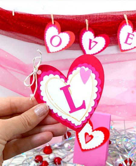 heart banner for valentine's day