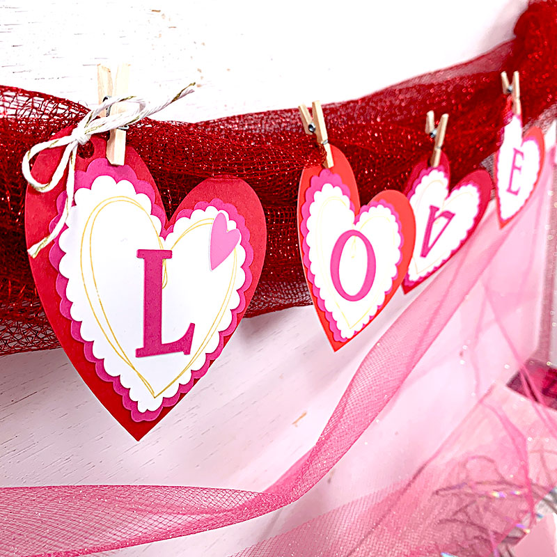 love banner for valentine's day
